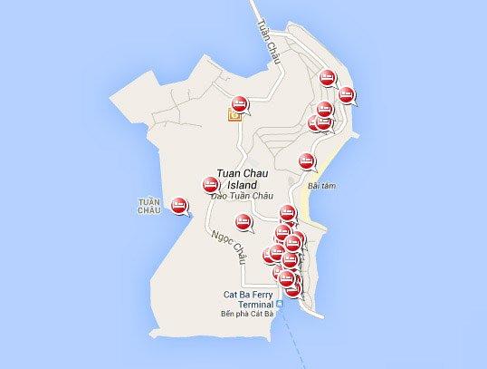 Отели острова Tuan-Chau, Бухта Халонг