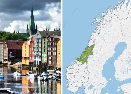 Тронхейм и центр Норвегии