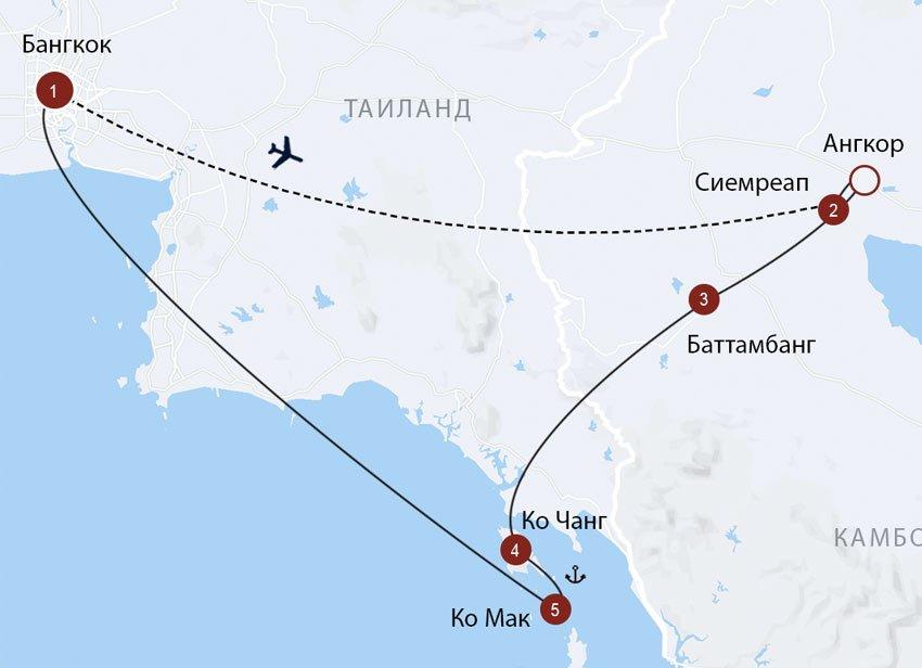 Храмы Ангкора и восточные острова Таиланда