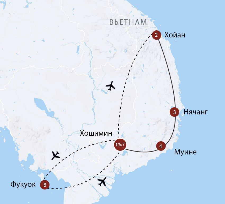 Южные пляжи и острова Вьетнама