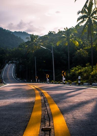 Ко Панган – дороги и транспорт на острове