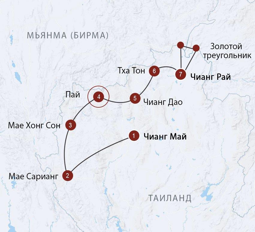 С рюкзаком по Северу Таиланда - готовый маршрут