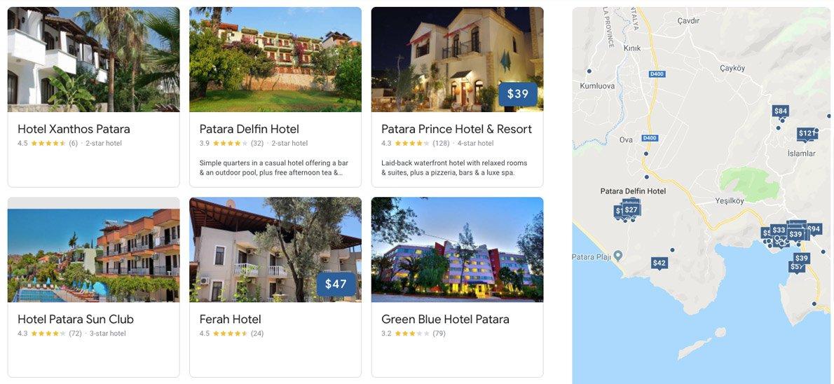 гостиницы - Патара