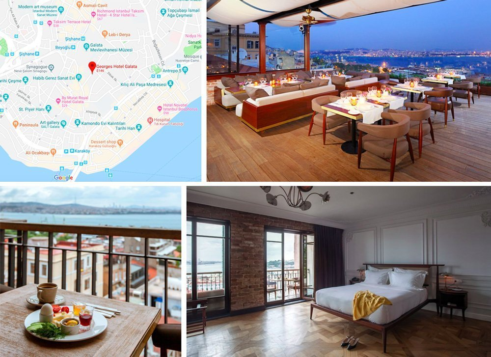 гостиницы Стамбула с террасами на крышах
