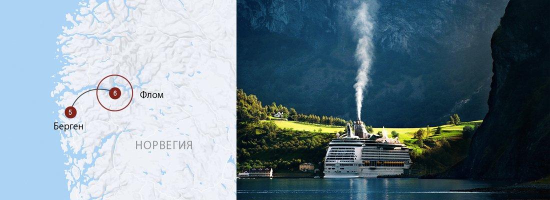 Флом - Большое путешествие по региону фьордов Норвегии