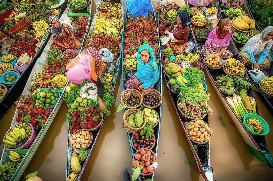Плавучий рынок, Baintan, Banjarmasin