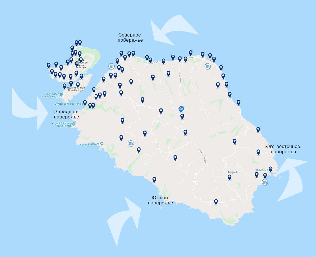 Карта Нуса Пенида