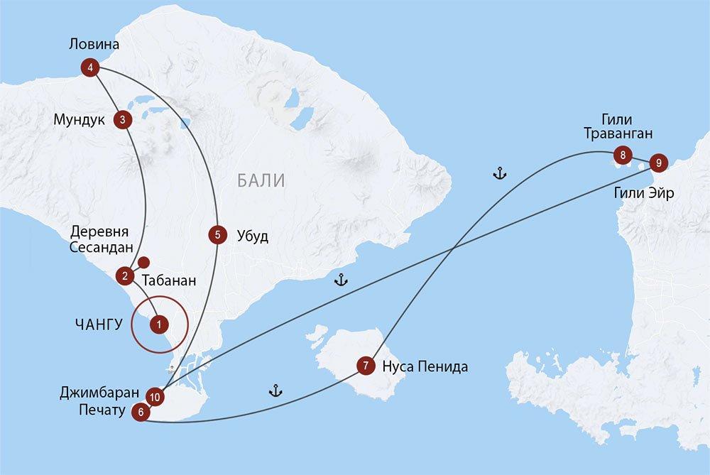 Атмосферный Бали и острова Гили